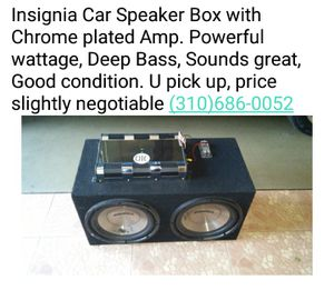 Insignia Speaker Box with Amp for Sale in Los Angeles, CA