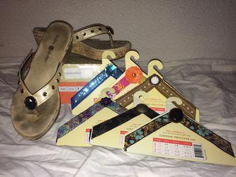 Lindsay Phillips Sandals - 8 (6 different straps) Thumbnail