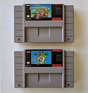 Super Mario Kart & Super Mario World Snes Games Bundle For Sale *$45 for the Pair* for Sale in Austin, TX
