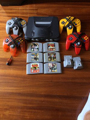 N64 with 4 Controllers and 6 games for Sale in Tampa, FL