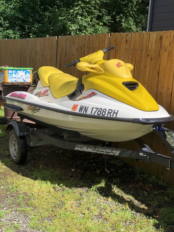 1997 Sea Doo Jet ski w/ 2005 trailer for Sale in Lake Stevens, WA - OfferUp