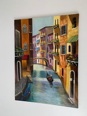 Oil on canvas hand made Venice for Sale in Rockville, MD