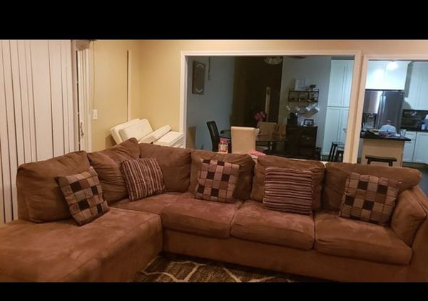 Large sectional sofa couch with pillows for Sale in Chino, CA - OfferUp