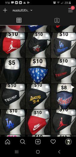 Masks for sale $4-$15 Thumbnail