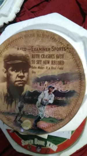 Photo Bradford Exchange Babe Ruth The 60th Homer plate
