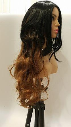 Long Brown Wavy Wig Thumbnail