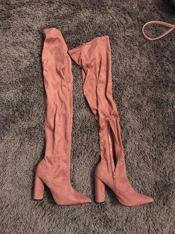 Thigh high muave boots Thumbnail
