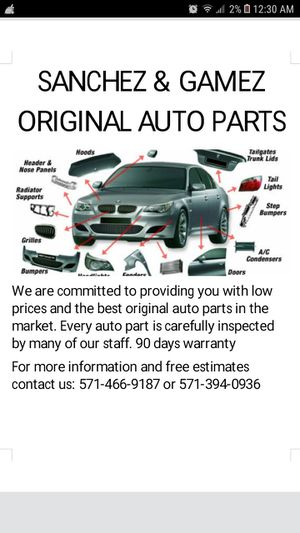 Auto body panels for sale