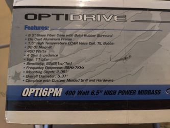 "High power 6.5"" midbass speaker Thumbnail"