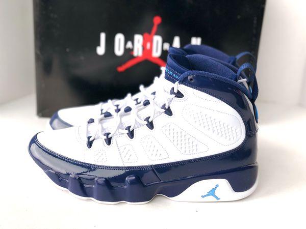 best cheap b3d06 9677b AIR JORDAN 9 RETRO UNC WHITE UNIVERSITY BLUE PEARL-MIDNIGHT NAVY  302370-145  for Sale in Portland, OR - OfferUp
