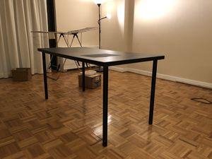 Used black desk for Sale in Arlington, VA