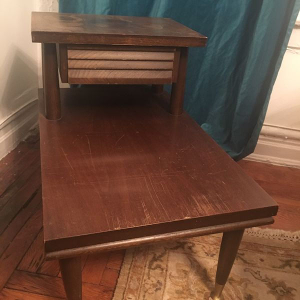 Antique Wood Side Table Furniture In Brooklyn Ny Offerup