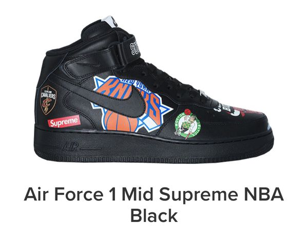 black air force 1 size 10