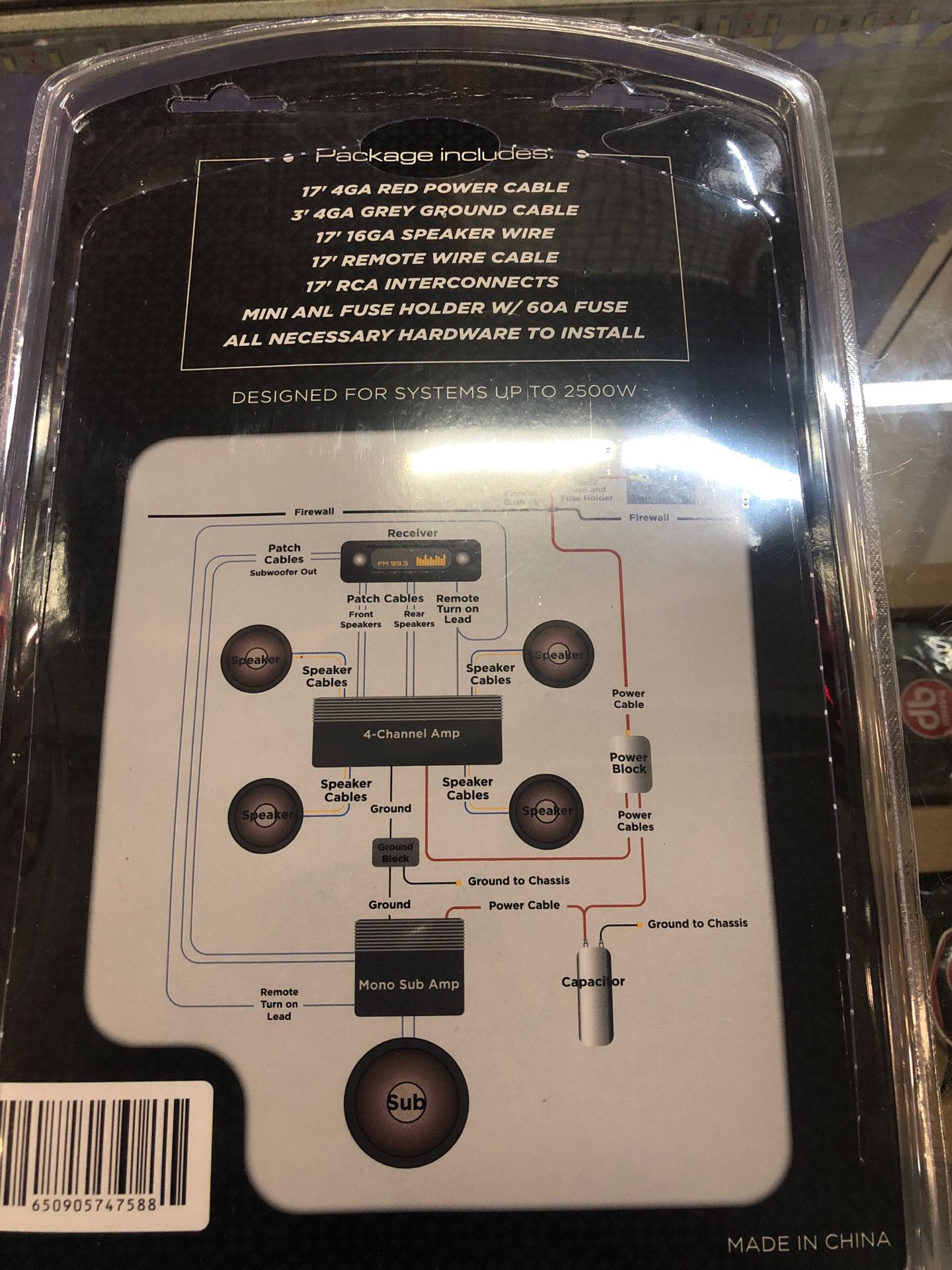 4 gauge Amp kit