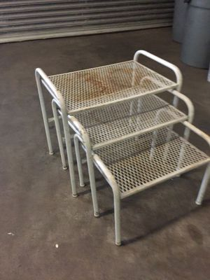 3 Wrought Iron step tables for Sale in St. Louis, MO