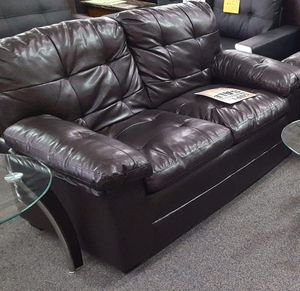 Brand New Black Faux Leather Love Seat for Sale in Silver Spring, MD