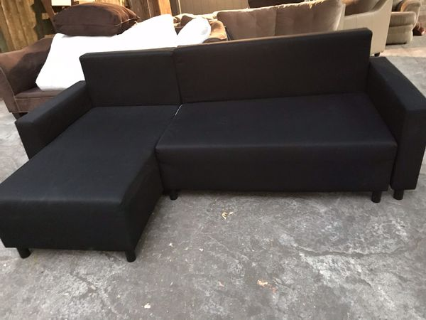 Ikea Black Sectional Couch Free Delivery For In Portland Or Offerup
