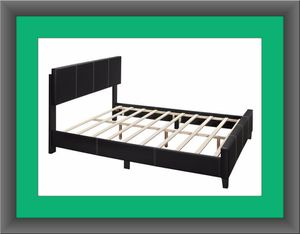 Queen bed platform bed with mattress and delivery for Sale in Ashburn, VA