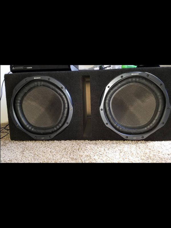 """12"""" Sony Subs W/ Enclosure - Perfect Condition for Sale in Hemet, CA -  OfferUp"""