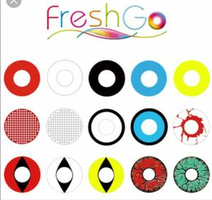 Sale!! Freshgo crazy lens Halloween colored contacts 1 pair =$7 for Sale in Oak Hill, FL