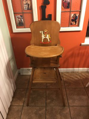 Vintage Wood High Chair for Sale in Hillsboro, MO