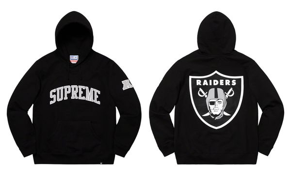quality design ba71a 88c75 Supreme NFL Raiders '47 XL hoodie black for Sale in Los Angeles, CA -  OfferUp