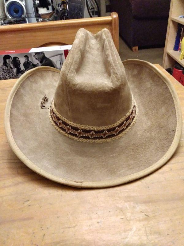 9a1bdb216300b4 AUTHENTIC & ORIGINAL STETSON COWBOY HAT,,SZ-7 1/2 GENUINE LAMB SKIN ...