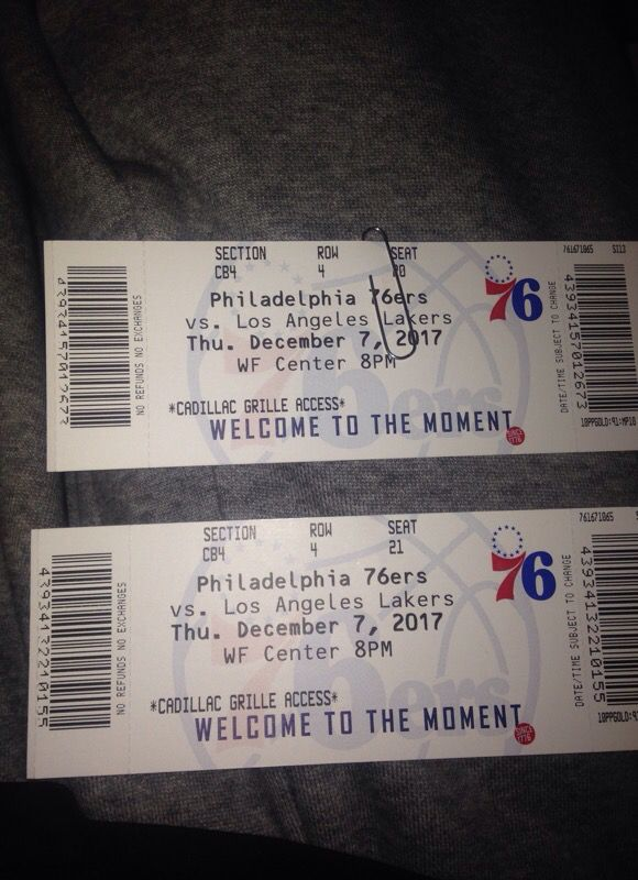 Sixers Club Box Lakers Seats for Sale in Philadelphia, PA - OfferUp
