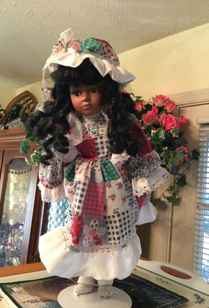 "Doll, 18"" , porcelain face, arms, legs for Sale in Springfield, VA"