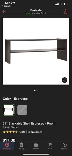 31 inch stackable south espresso will essentials Currently and Retails for $17.00 Thumbnail