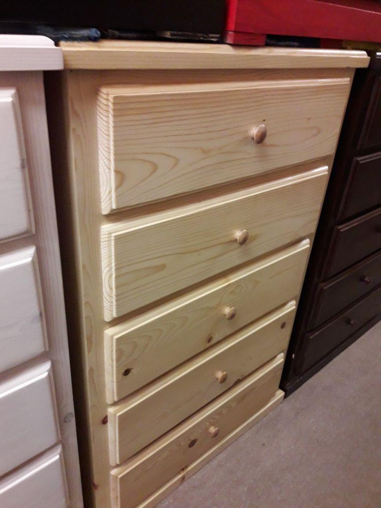bone pinewood dresser cajonera