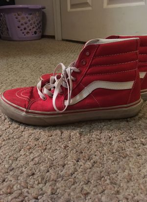 4a231d257b0 Old school hightop vans unisex size 9 men size 10.5 women for Sale in  Modesto