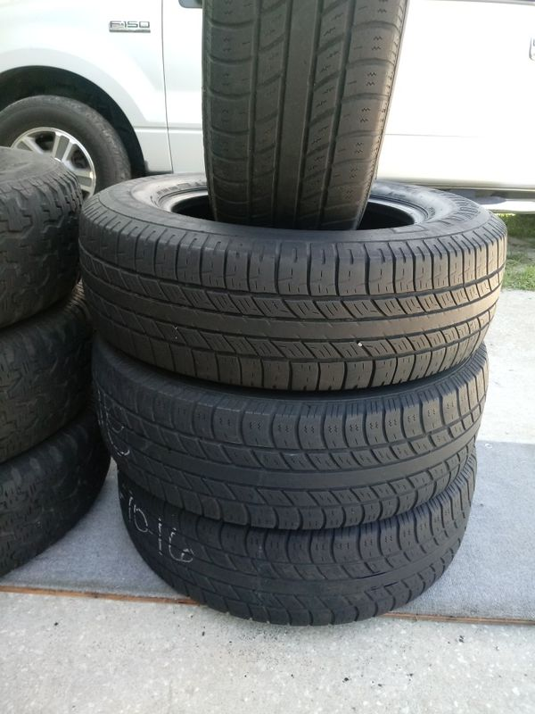 4 Used Tires 215 70 16 Uniroral 100 The Price Included Mounting