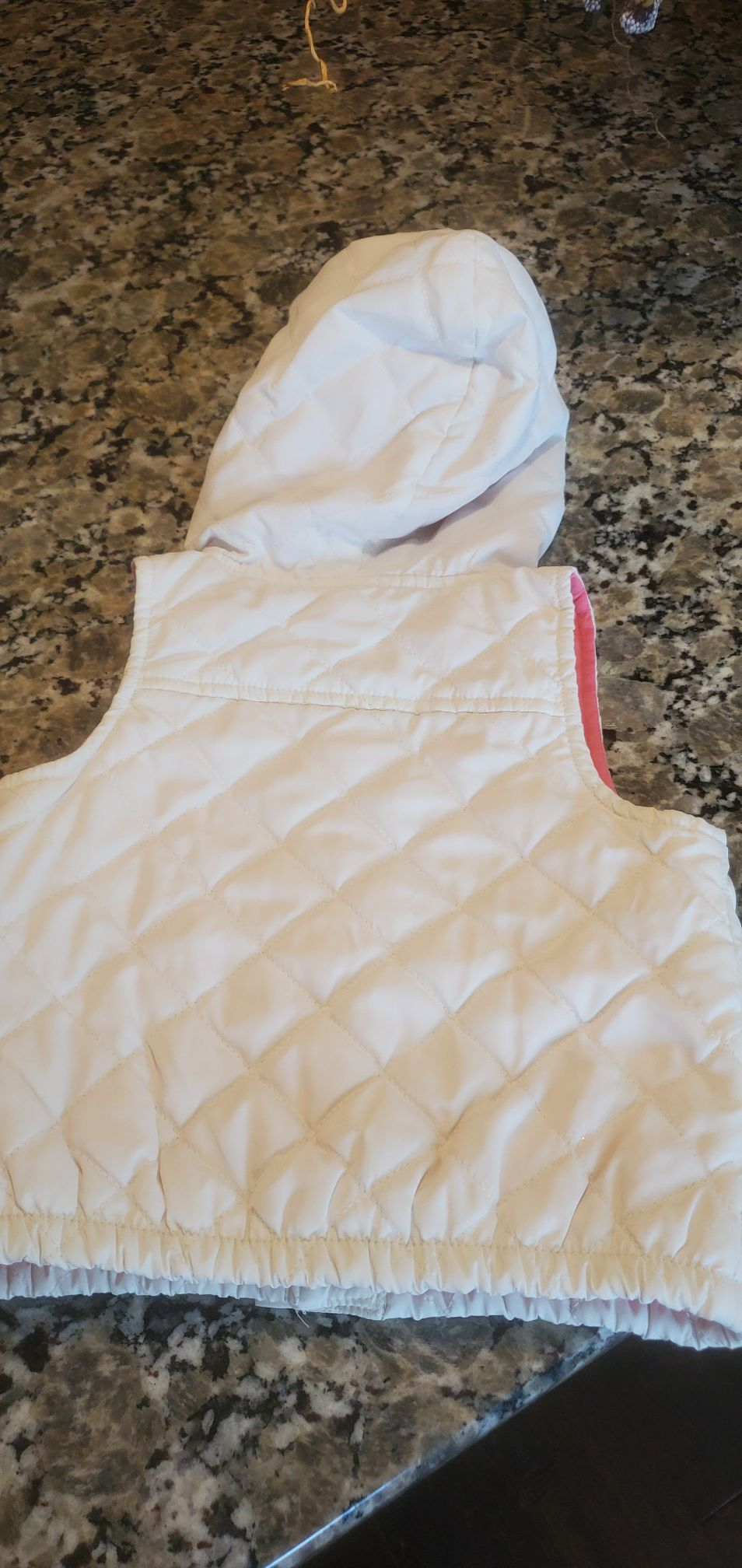 Oshkosh Pink/Cream Vest - 12 Months Baby