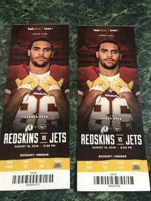 Redskins vs Jets for Sale in Manassas, VA