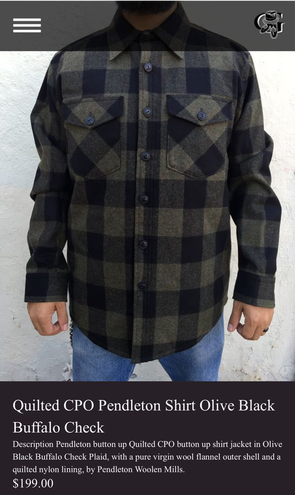 1ea7596d211e58 Pendleton quilted CPO jacket . Mint condition no damage size medium ...