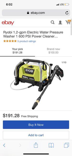 Ryobi electric pressure washer 1600 psi for Sale in Chatsworth, CA