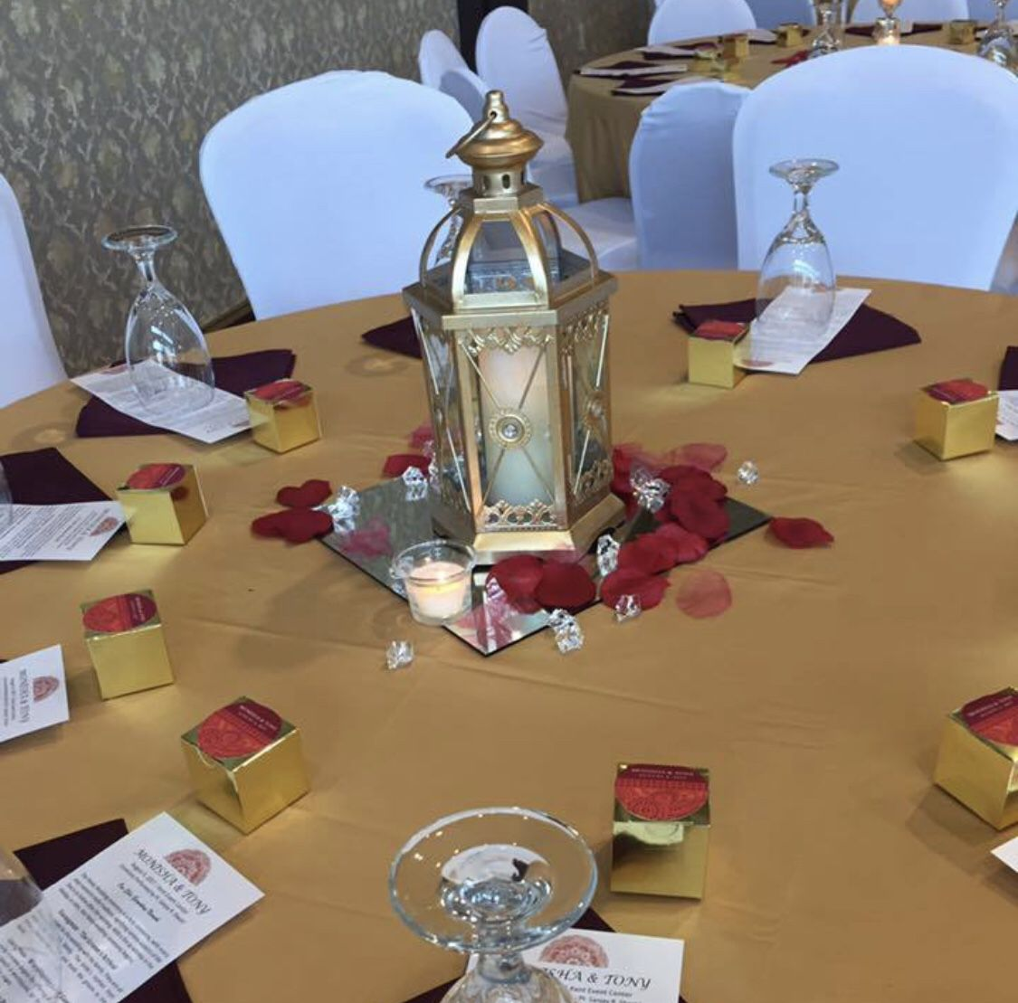 Burgundy Napkins Wedding Event 100