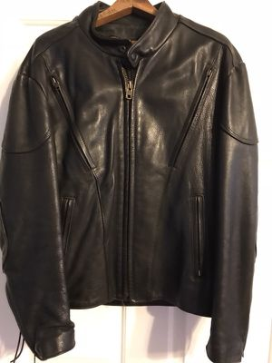 Leather Motorcycle Jacket, size 42 for Sale in Rustburg, VA