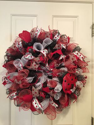 Ladybug Deco mesh wreath for Sale in Mount Airy, MD