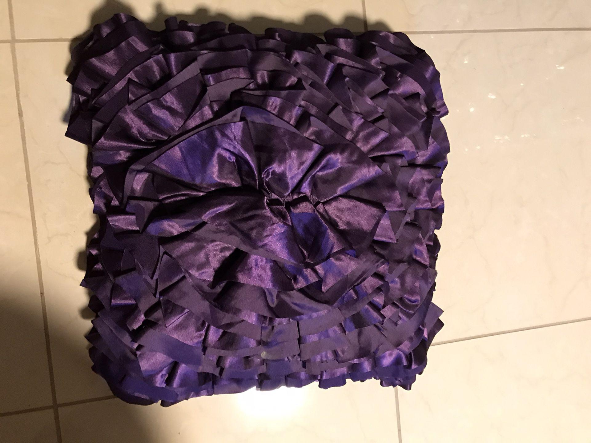 Purple Throw Beautiful Pillow