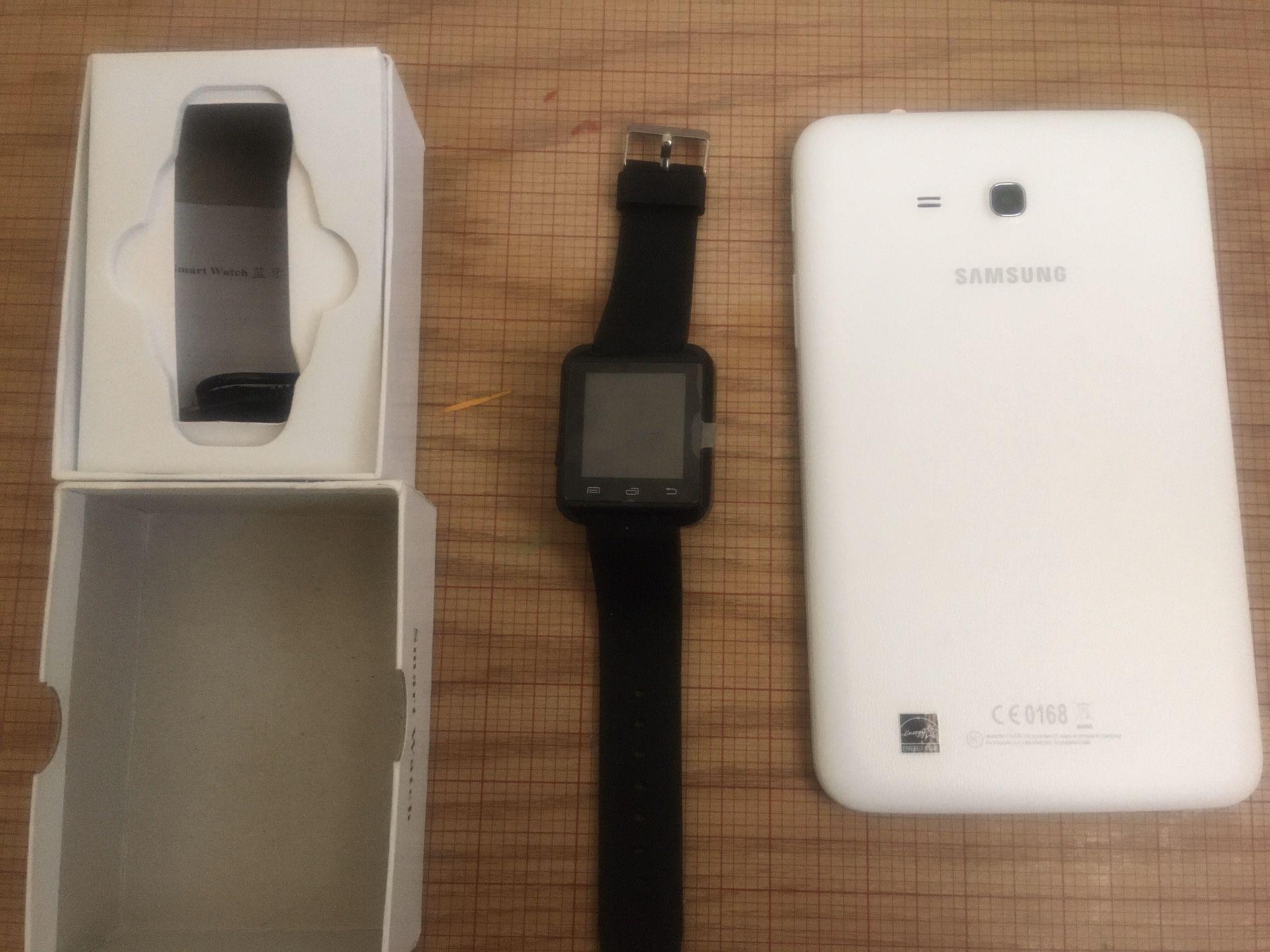 Smart Watch And Samsung Tab E