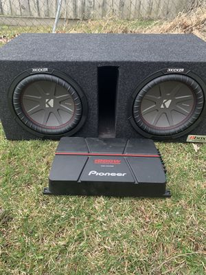 "Photo Two 10"" subs with 1,000 watt amp. I'll hook it up so you know it works."