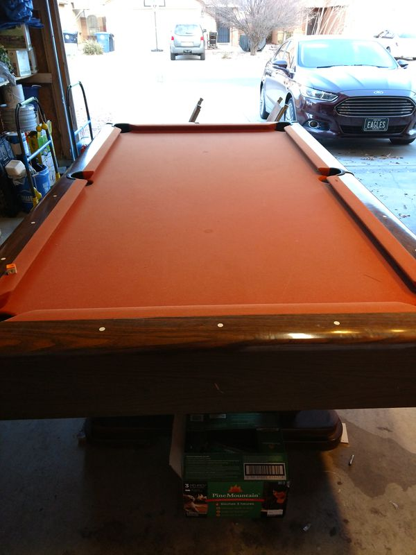 regulation size pool table slate good condition for sale in