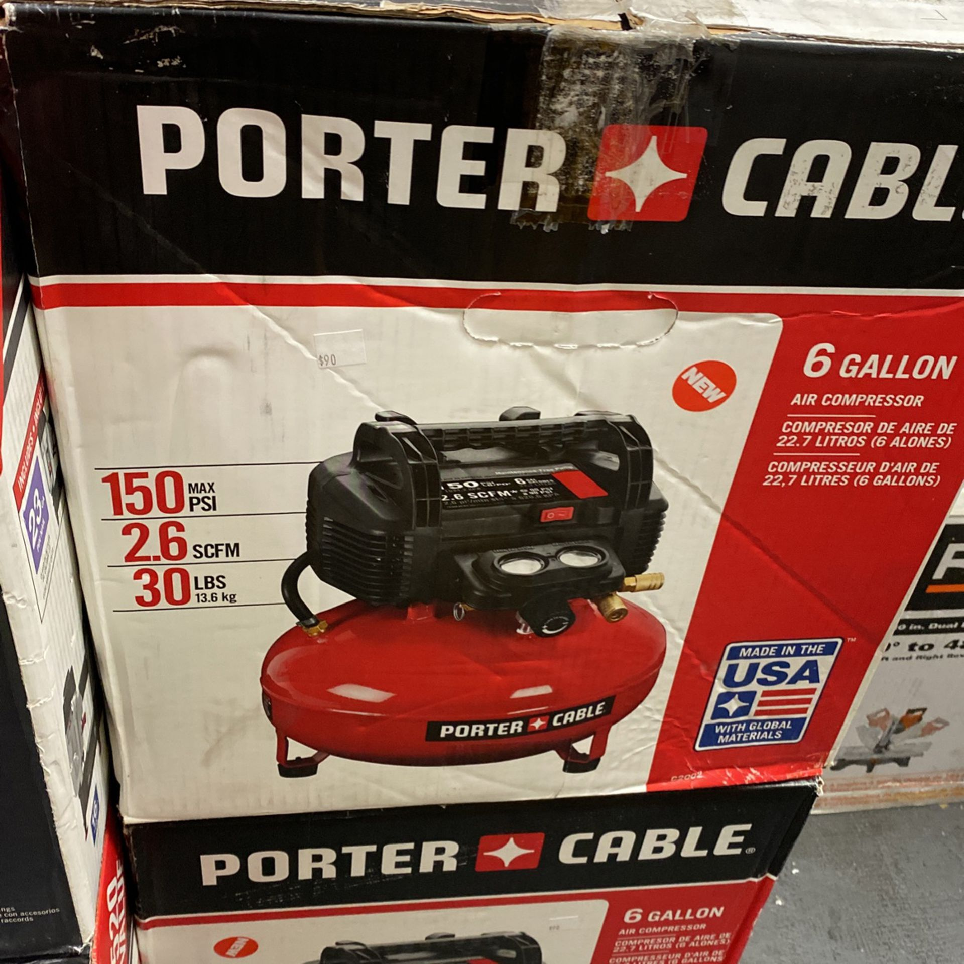 Porter Cable 6 Gallon Air Compressor Only Asking $90