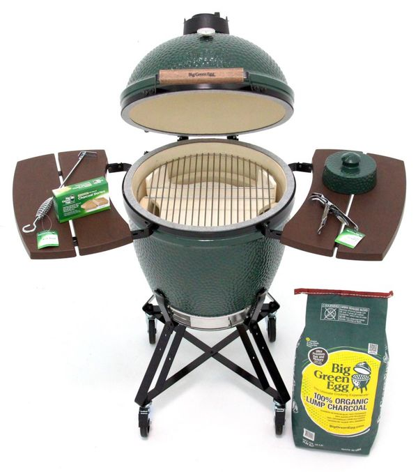 Xtra Large Big Green Egg Charcoal Grill And Smoker For Sale In