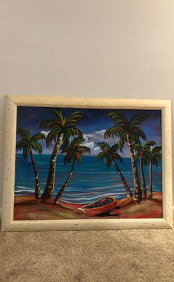 Beach Island Oasis Painting Thumbnail