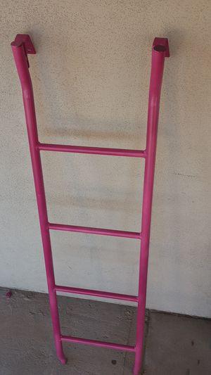 Extruded aluminum pink flamingo metal ladder bunk bed for Sale in Scottsdale, AZ