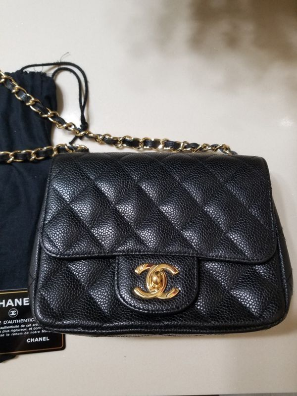 fccffa7bfda7 Authentic chanel caviar mini flap bag purse for Sale in Austin, TX ...