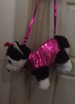 Pink Sparkly Dog Purse Thumbnail